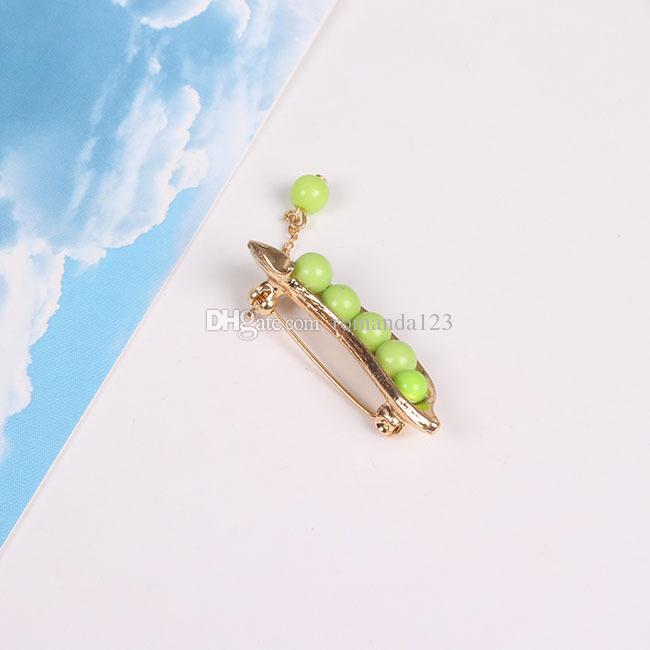 Spilla verde sveglia del vestito del maglione del perno della spilla del collare del maglione del maglione di stile del giapponese di stile sveglio placcato oro Brooch il trasporto libero del DHL