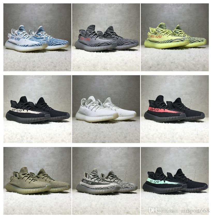 2017 Adidas SPLY-350 Yeezy Boost V2 2016 New Kanye West Boost 350 V2 SPLY  Running Shoes Grey Orange Stripes Zebra Bred Black Red Running Shoes for  Men Kanye ...