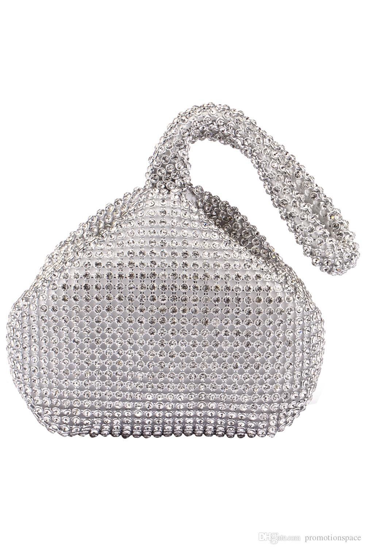 Design Spécial Femmes Bridal Main Sacs Mariage Événements Parti Diamant Cristal Perles Perles Portefeuille Accessoires de mariée CPA959