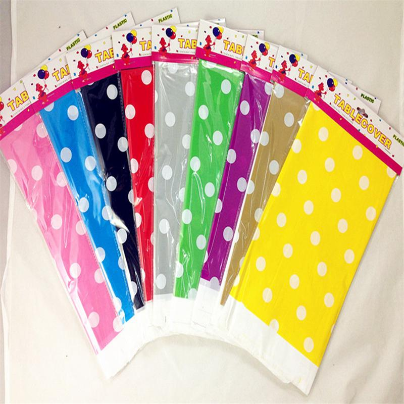 Plastic Polka Dot Party Tablecloth Wedding Plastic Table Cover Baby Shower  Banquet Table Cloth