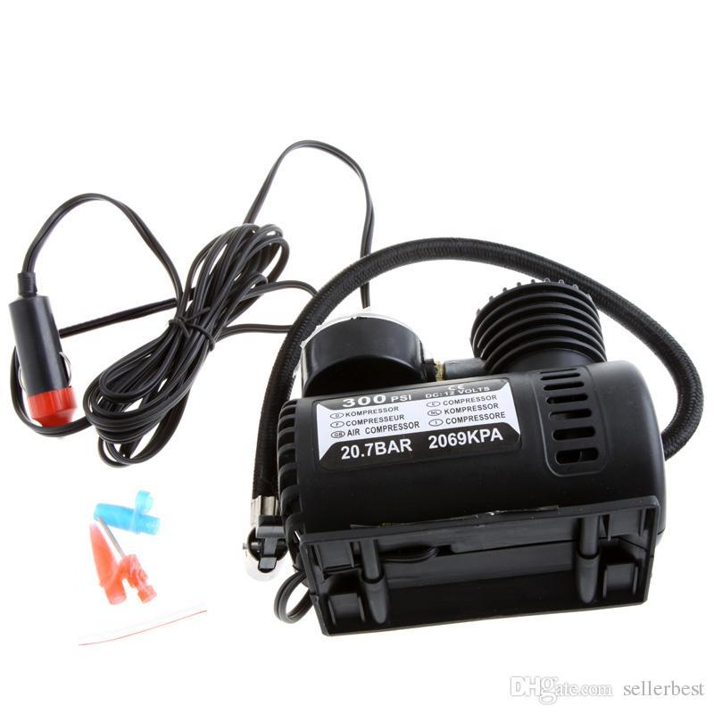 المحمولة سيارة / السيارات dc 12 فولت الكهربائية ضاغط الهواء / الاطارات نافخة 300PSI 20.7 بار 2069 كبا السيارات مضخة الهواء الطوارئ