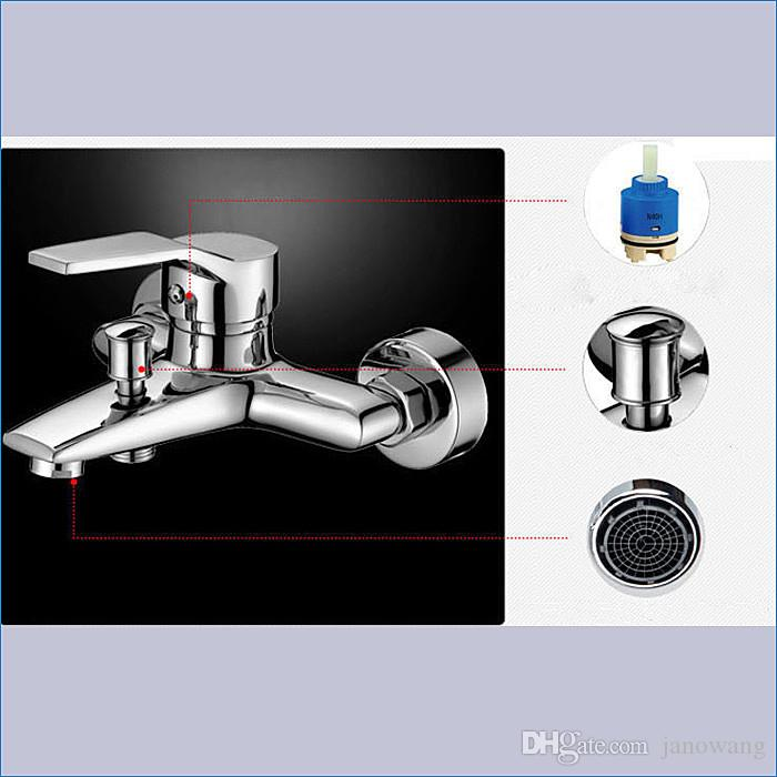 벽걸이 식 욕조 샤워 수도꼭지, 욕조 믹서, 도청 장치, 냉 / 온 수도꼭지, J14840 무료 배송
