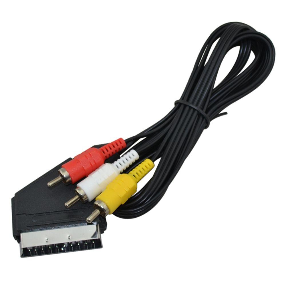 NES için 3 RCA Ses Video Kablosu için 1.8m RGB Scart