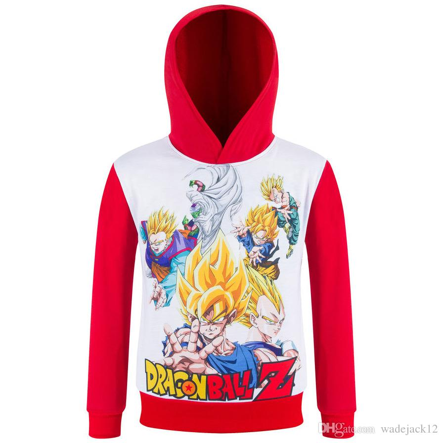 2016 new spring autumn childrens tops dragon ball hoodies cartoon