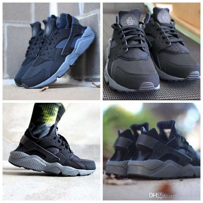 2018 New Air Huarache Ultra Noir Dark Gris Running Chaussures  For Homme