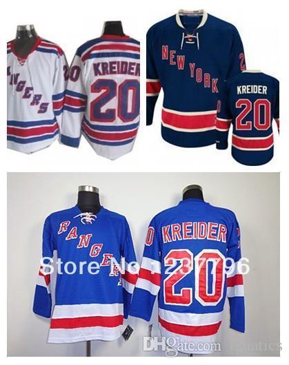 newest eabb7 04fb4 2016 Cheap New York Rangers Jersey Chris Kreider #20 Ice Hockey Men's Blue  Beige Cream Winter Classic Best Quality 100% Stitched