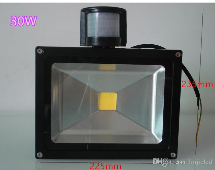 10W 20W 30W 50W PIR LED Flood light with Motion Sensor Spotlight Waterproof Outdoor LED Floodlight Lamp Warm/Cold White AC 85-265V