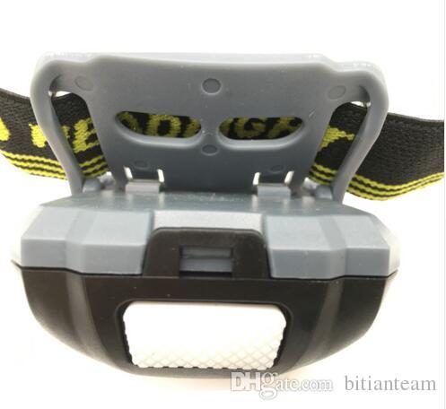 LED Scheinwerfer Kopf Fahrradlampe Licht Infrarot Mini Wasserdicht 600Lm 4 Modi R3 + 2 LED 3xAAA Scheinwerfer Mit Stirnband