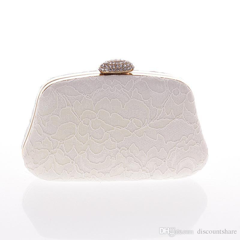 587fafa51c New Women Diamond Clutch Exquisite Embroidered Lace Evening Bag Wedding  Party Handbag Purse Chain Shoulder Messenger Bag Ladies Purses Designer  Handbags On ...