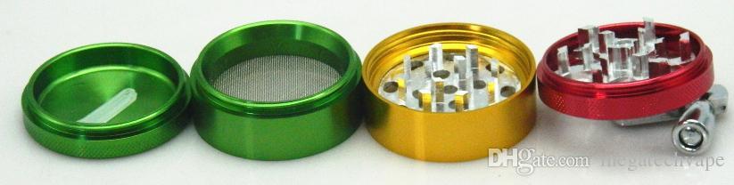 Máquinas amoladoras de arco iris 4 piezas 50 mm amoladora Material de aleación de zinc Molinillo Tabaco Hierba Especias trituradora Envío gratis