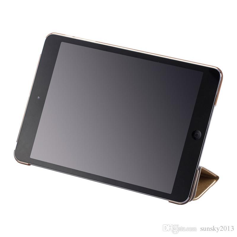 Custodia Smart Skin iPad Mini 2 3 4 Custodia Ultral Slim PU Custodia 9.7 pollici iPad Pro iPad Air 2 Custodie trasparenti trasparenti iPad