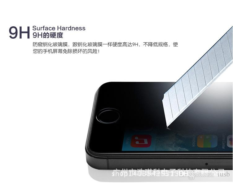 Privacy Vetro temperato Samsung Galaxy S6 S5 S7 iPhone 6 Nota 5 Pellicola salvaschermo Pellicola salvaschermo Pellicola salvaschermo