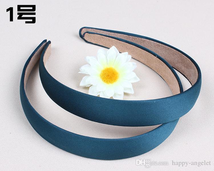 color cubierta satén cinta de resina de bobinado de la banda de pelo para niños Accesorios para el cabello Ancho: 2 cm de banda para la cabeza básico para la mujer / niña / Señora FJ3125