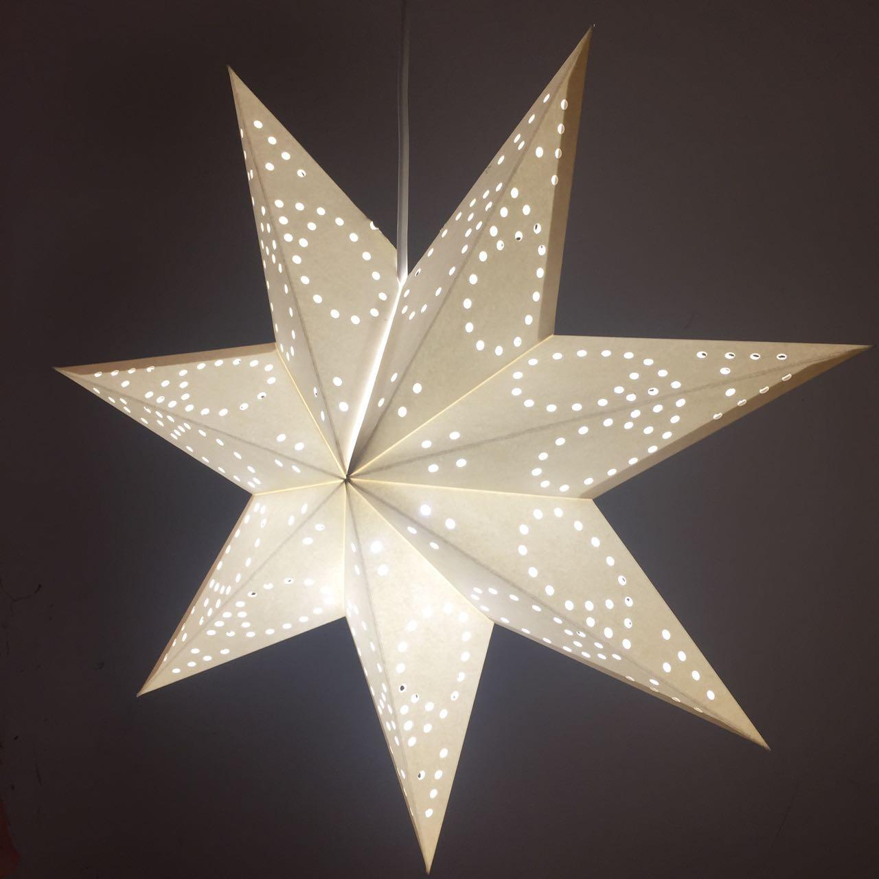 2018 christmas decoration lights 7 pointed paper star lantern 2018 christmas decoration lights 7 pointed paper star lantern lampshade hanging decoration with 12 foot standard power cord with onoff switch from jxlights aloadofball Gallery