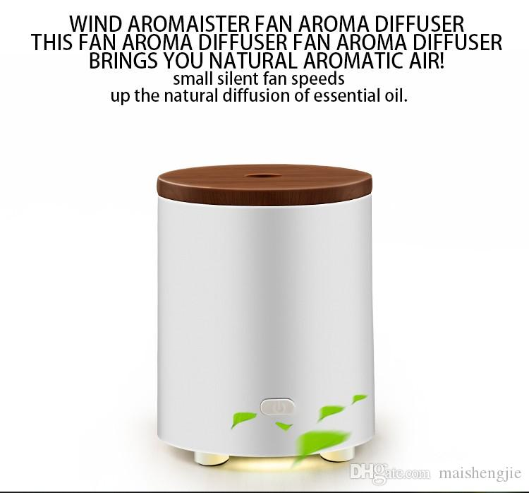 new designed usbbattery operated essential oil diffuser fan aroma wood cover essential oil diffuser from