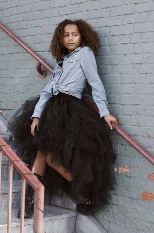 Preto Hi-lo Tousy Elegante Saia de Tule Design Quente Ruffled Na Altura Do Joelho Tutu Saias de Tule para As Mulheres Encantadoras Vestidos de Festa Desgaste