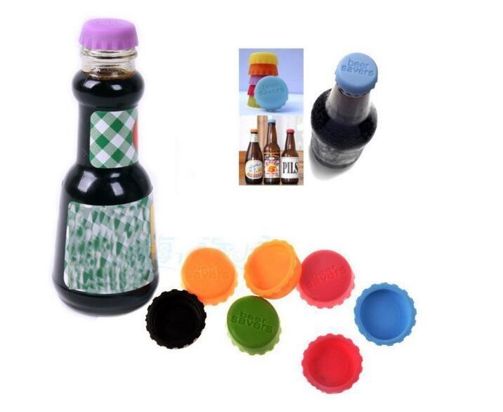 Silikon Flaschenverschlüsse Wein Bier Saver Multicolour für Küche Bar Food-Grade Neue Idee Soft Beer Cap pro Packung