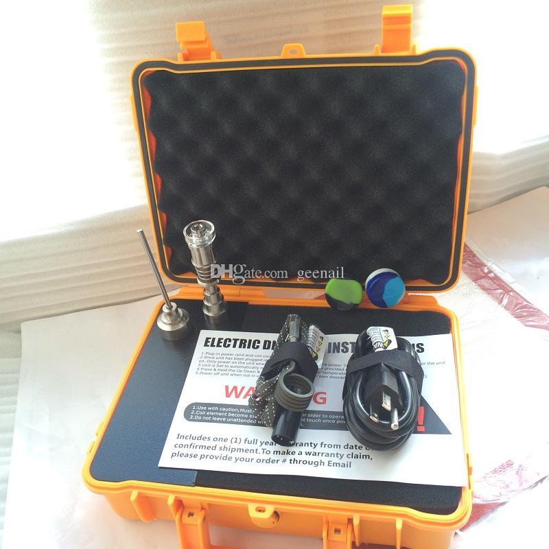 E dab NAIL Pelican E quarzo Kit chiodo cera vaporizzatore penna TI TIIDless PID dab box tappetini in silicone bong di vetro acqua.