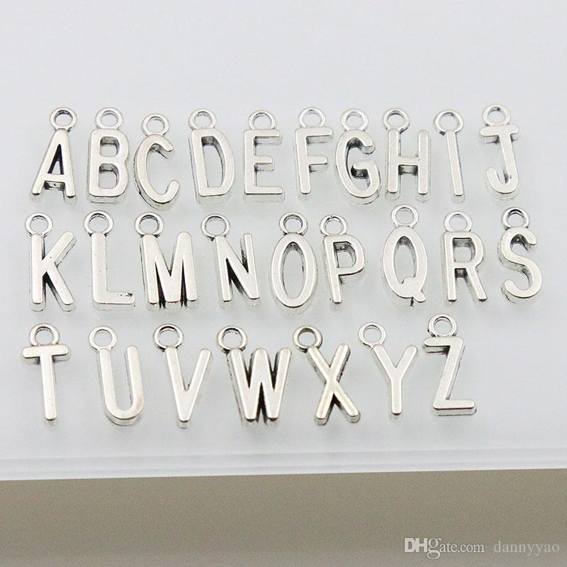 Neue Weinlese-Legierungs-Alphabet-Charme-Metallanfangszeichen-Charme / jedes Alphabet bezaubert AAC1198