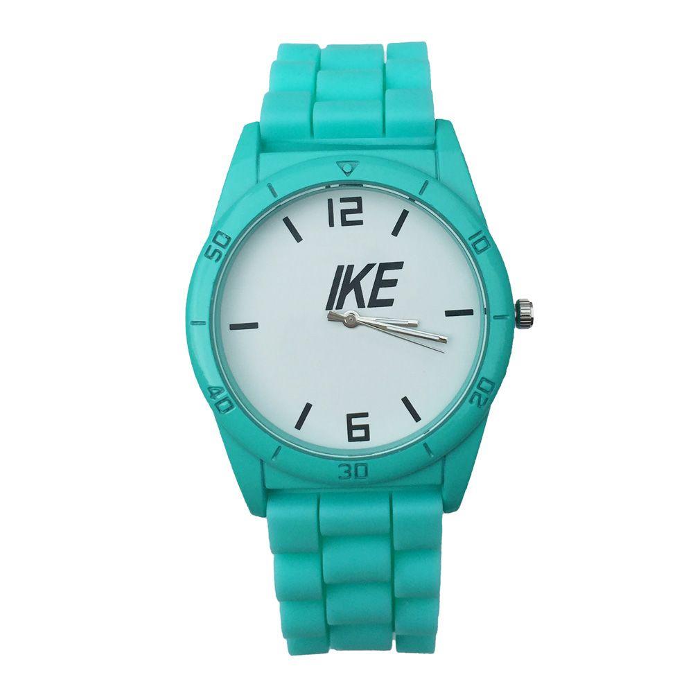 Mode NI Marque femmes bande silicone hommes montre-bracelet à quartz N05