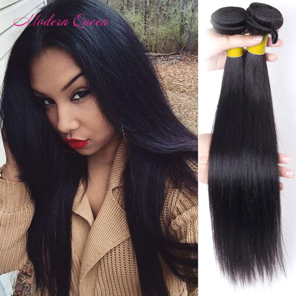 Raw Indian Straight Hair Weave 2 Bundles 7a Indian Silky Straight