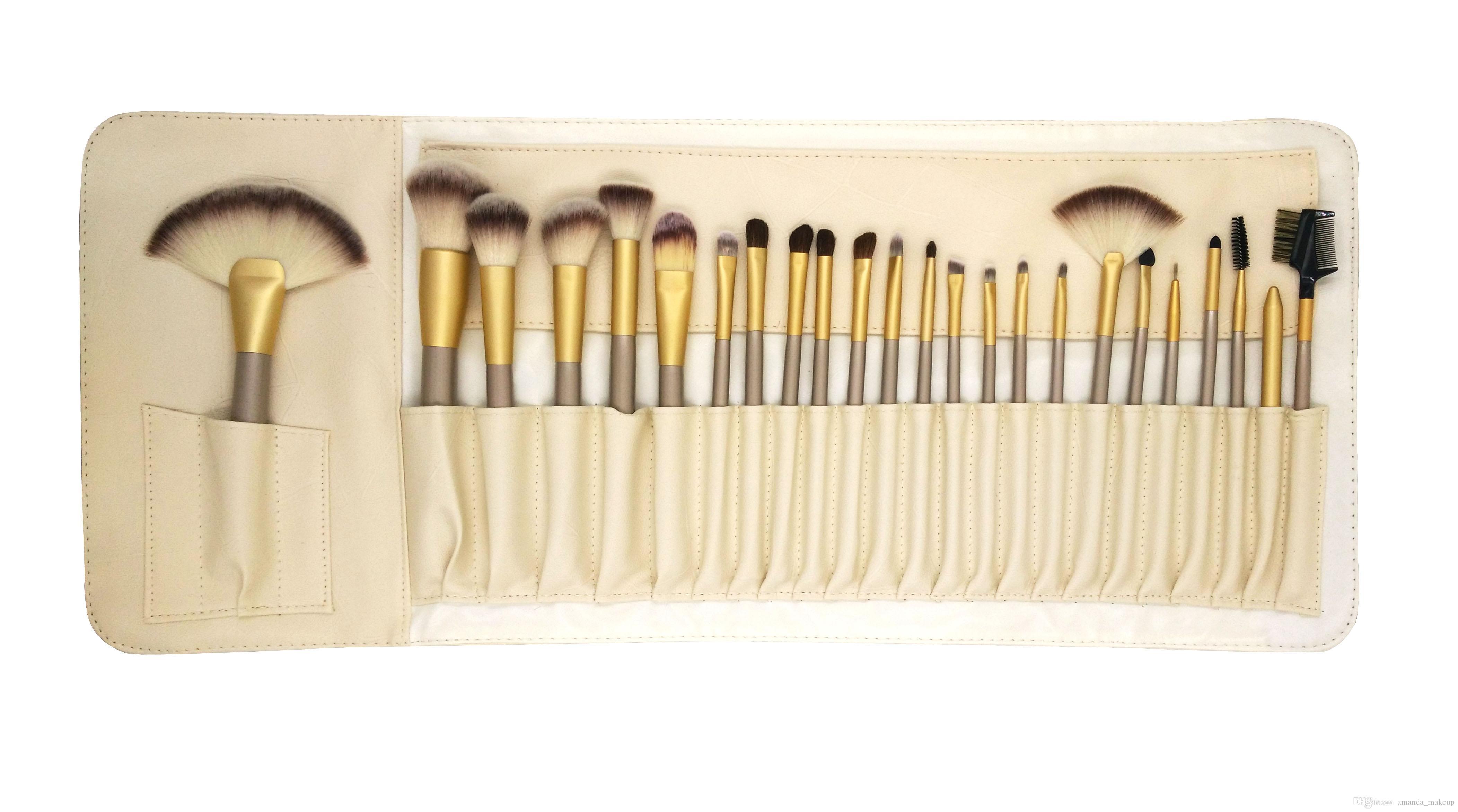 Best Selling Makeup Brushes Set Fun Brush Foundation Powder Eyeliner Lip Brush Beauty Tools Cosmetic Brush Set With PU Bag Free Ship Makeup Box Best Makeup ...