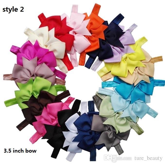 Bébé Enfants Fille Flower Bur Band Bandeau Turban Knot Bandeau de lapin Couvre-tête Bur Bow Cheveux Accessoires Vente chaude /