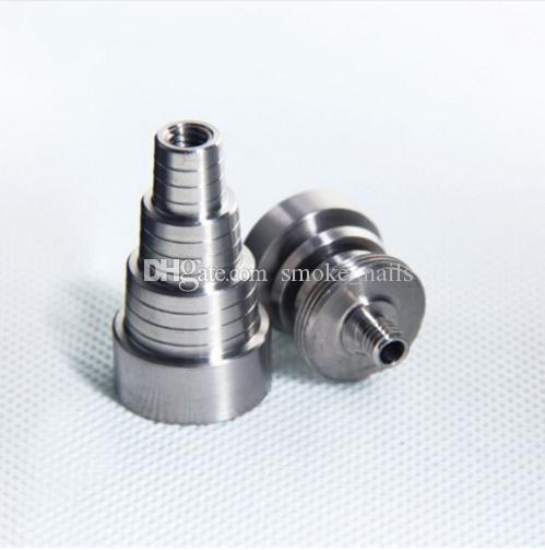 DHL frei Top Qualität 6 in 1 Einstellbare domeless GR2 dab Nagel Titanium Nägel Männlich Weiblich für Bohrinseln Glasbong auf Lager