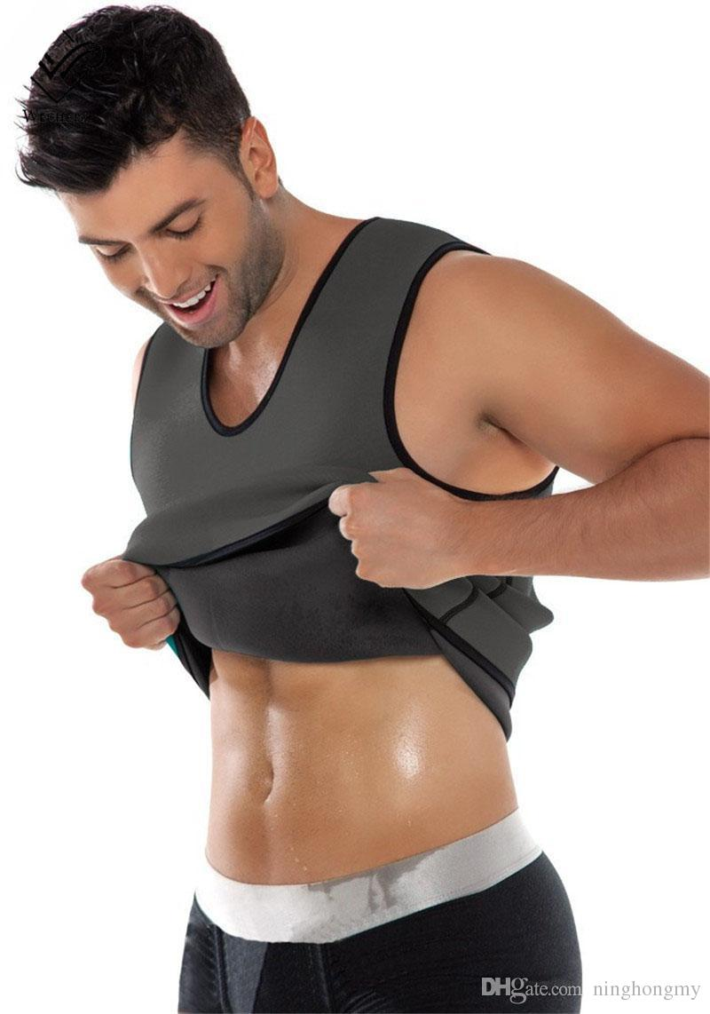 2019 Hot Fashion Sexy Slimming Belt Belly Men Vest Body Shaper Man Neoprene Abdomen Thermo Tummy Waist Sweat Corset Weight Loss underwear