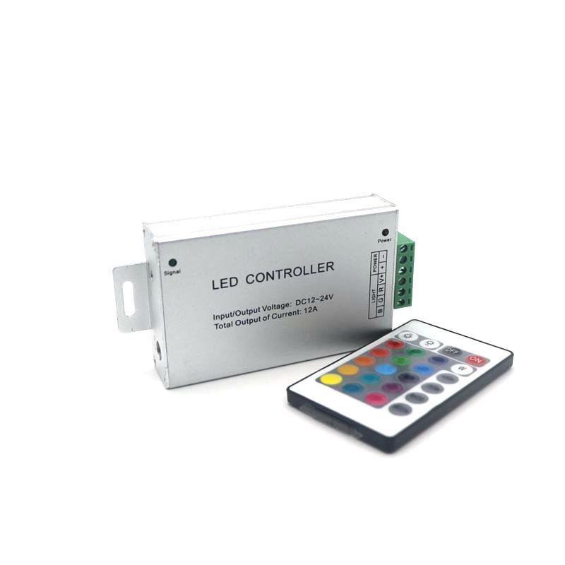 Edison2011 Marke Neue 12A DC12-24V RF Drahtlose 24 tasten Led RGB Fernbedienung Für RGB LED Streifen / Modul Lichter