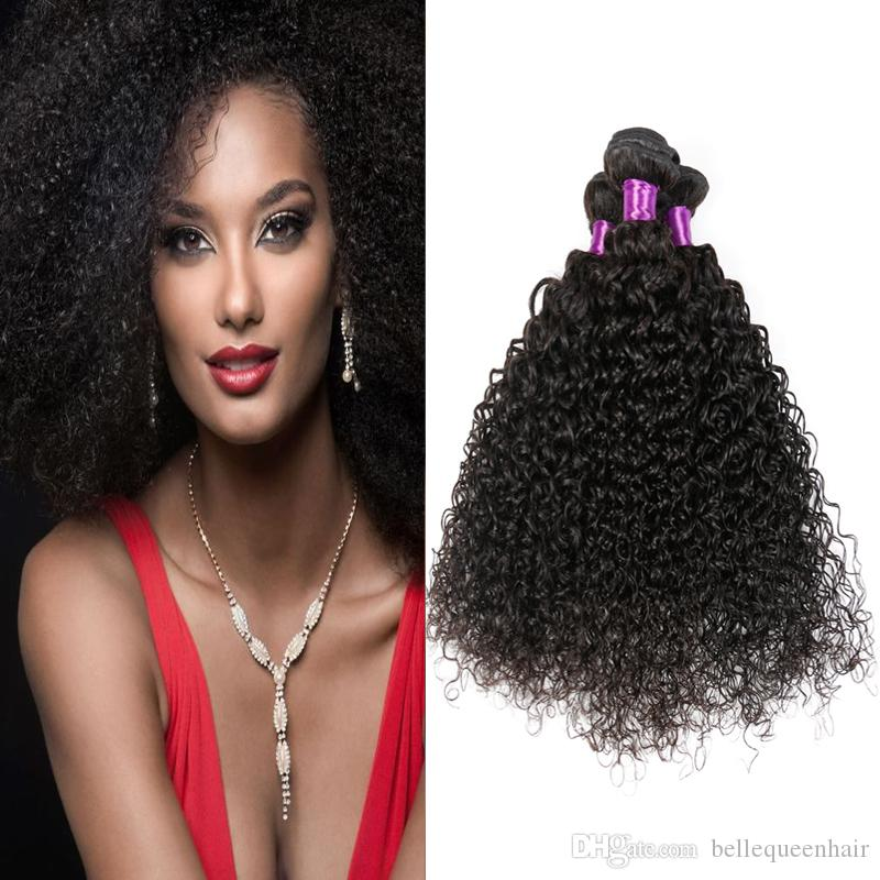 7a Brazilian Virgin Hair Afro Kinky Human Hair Weave Black Curly