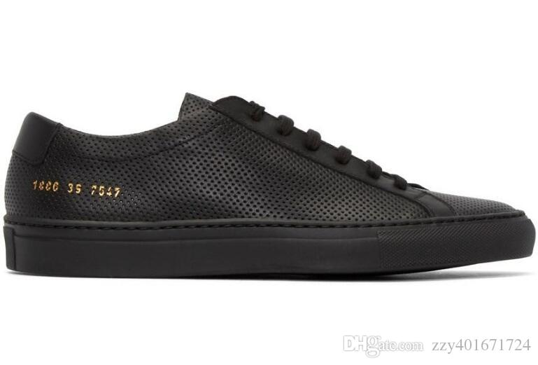 5a2231724ad349 Summer Breathable Style Simple Italy Brand Common Projects Shoes Men Women  Genuine Leather Black White Casual Running Shoes With Net Hole Platform  Shoes ...