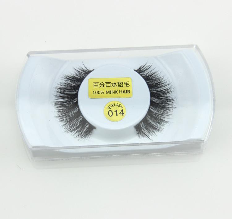 100% Real Mink Natural Thick False Fake Eyelashes Eye Lashes Makeup Extension Beauty Tools QLM