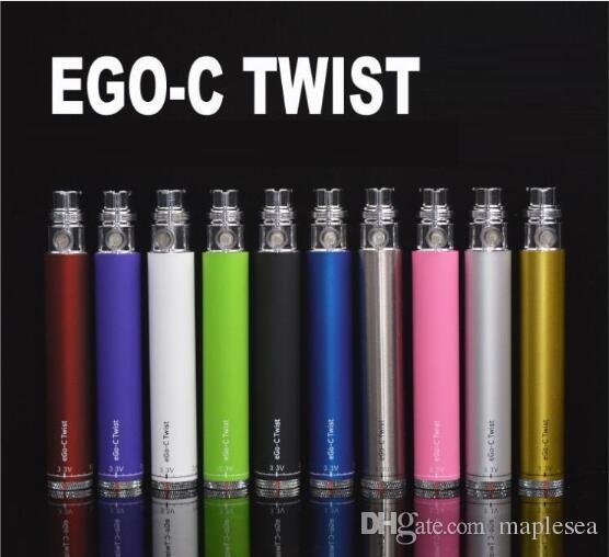 Spinner Ego c twist elektronik sigara ego-c büküm pil 650 mah Değişken Gerilim 3.3-4.8V