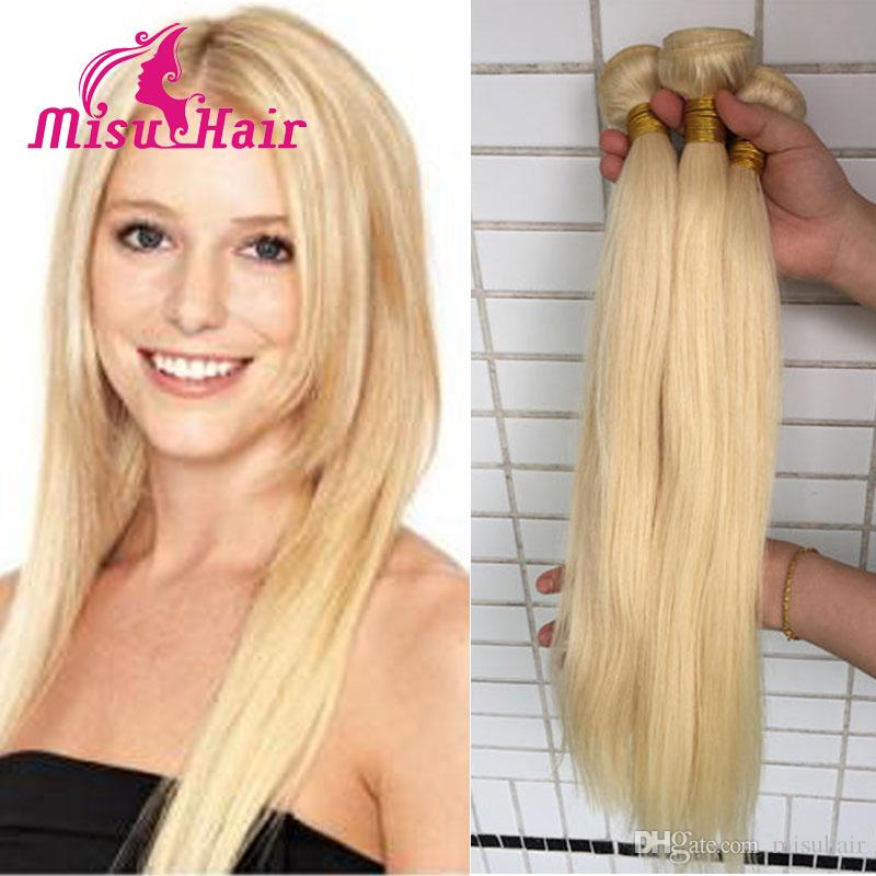 Blonde Weave 100 Unprocessed European 613 Blonde Straight Human