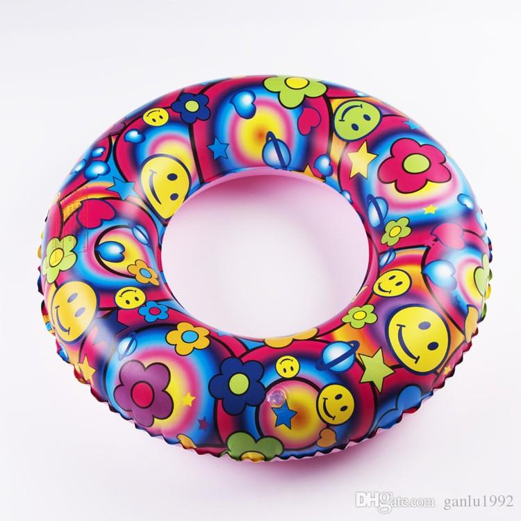 Inflatable Fancy Swimming Rings Five Colors Thickened PVC Swim Ring Baby Boys Girls Pool Summer Water Toys Lovely 5 4fj B