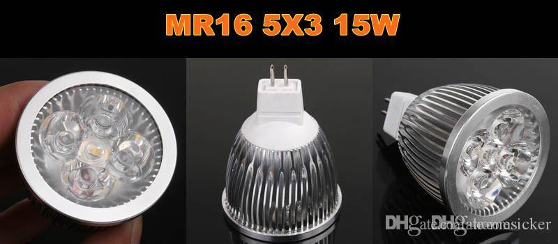 Promotion Dimmable GU 10 / MR16 / E27 9W / 12W / 15W LED Spotlight led éclairage led ampoules led lampe intérieure led ampoule