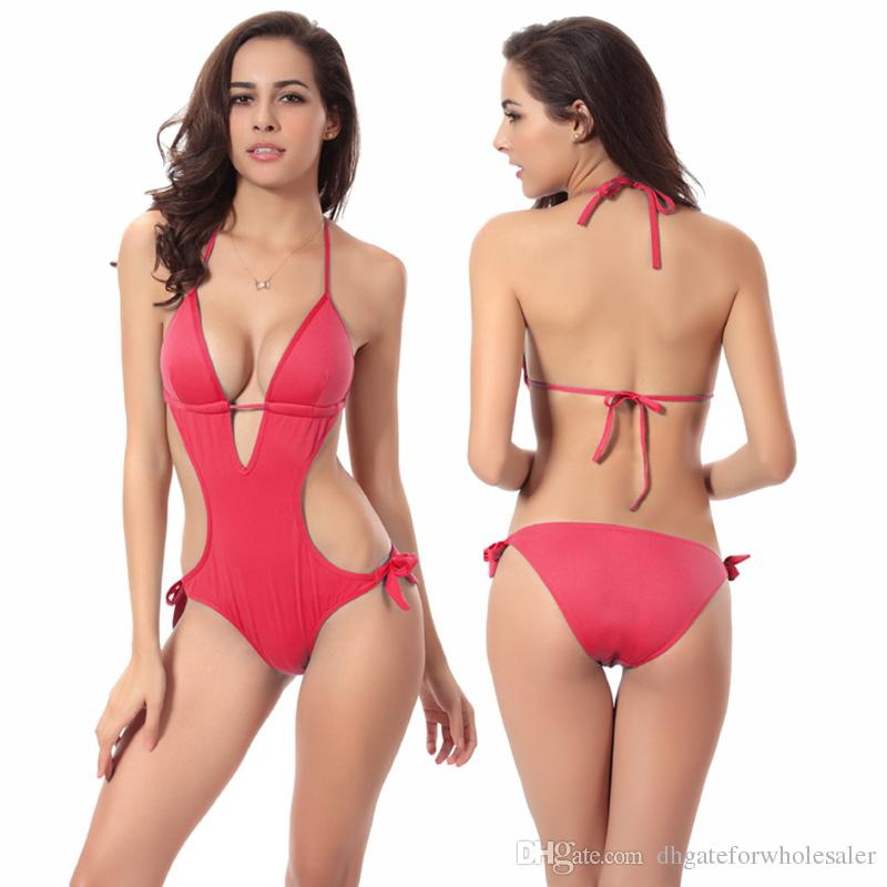 One piece Bathing Suit Vintage Tankini Push up One piece Bandage Swimwear For Women Sexy Swimsuits Monokini Swimming Costume