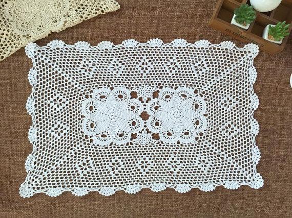 Handmade crochet table mats,cotton, wedding centerpieces, 100% handmade placemats, oblong doilies crochet for home decor as018