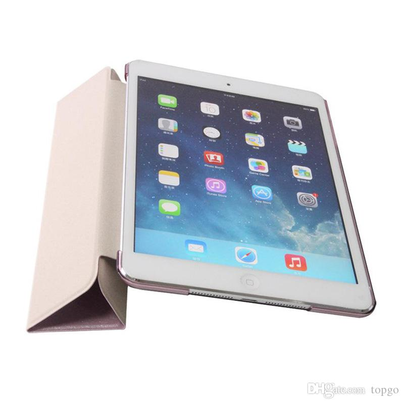 """Silk Pattern Front Smart Case with Hard PC Back Cover Folding Stand PU Tablet Cases Leather Magnetic Sleeve for iPad 2 3 4 Air 2 Pro 9.7"""""""