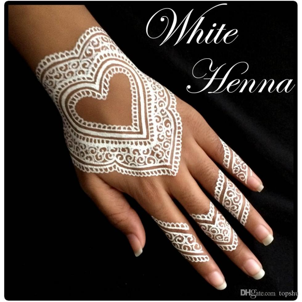 White Henna: 3 White Henna Cones Temporary Tattoo Kit Body Art Mehandi