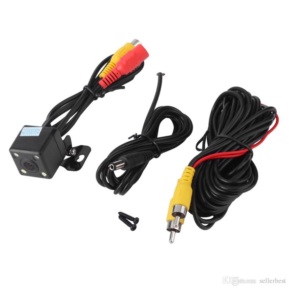 Vue arrière de la voiture caméra étanche 170 degrés HD CCD 4 LED vision nocturne de stationnement de nuit Aide Auto Accessoires Car Styling