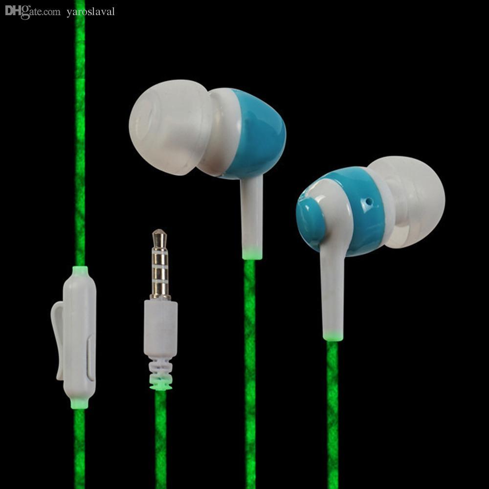 1f3c0cc305d Wholesale Glow Earphone In The Dark Earphones Luminous Neon Headset Flash  Light Glowing Earbuds With Microphone Night Lighting Headset Wireless  Headphones ...