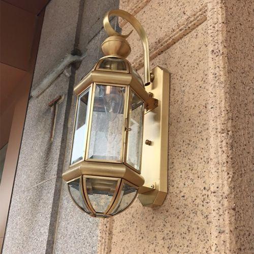 1 Pcs Retro Copper Wall Lamp Indoor Outdoor