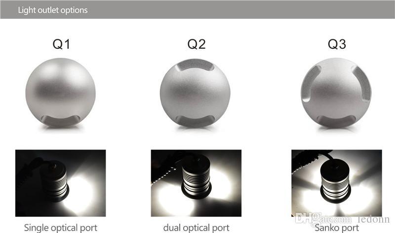 IP67 3 Вт 12 В / 24 в LED подземный свет открытый ландшафтное освещение встраиваемые пятно света комплект патио брусчатка LED настил пола лестница лампа