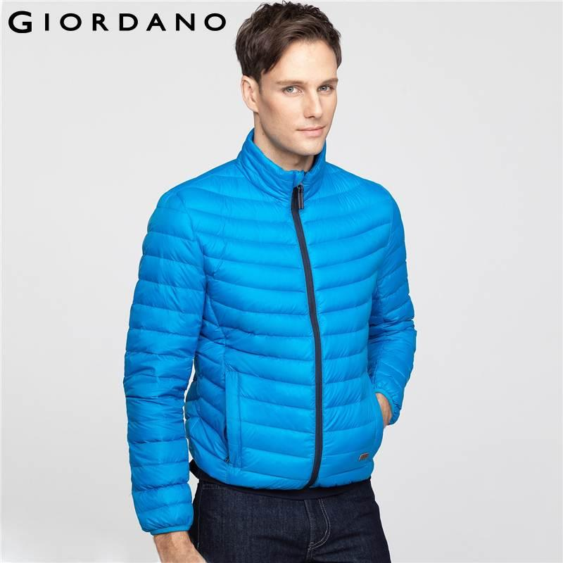 a0750c260 Wholesale- Giordano Men 90% Duck Down-Jacket Winter Warm Male Coat  Outerwear Brand Casual Large Size Down Coat Manteau Homme Marque