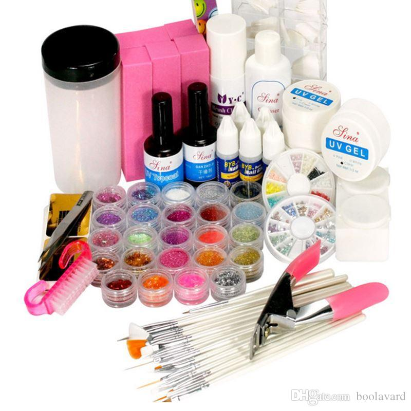 Acrylic Nail Kit New UV Gel Nail Art Tools Polish Set Diy Kit ...