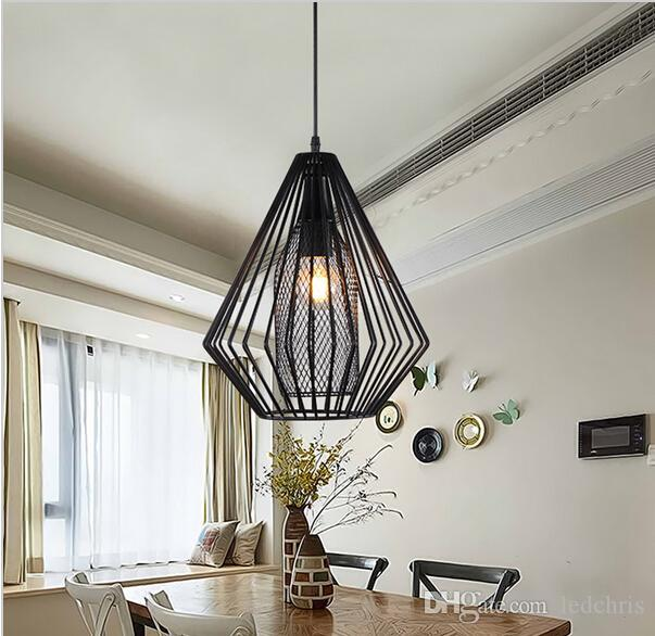 industrial pendant lights vintage restaurant bar foyer loft lustre industriel lamps light. Black Bedroom Furniture Sets. Home Design Ideas