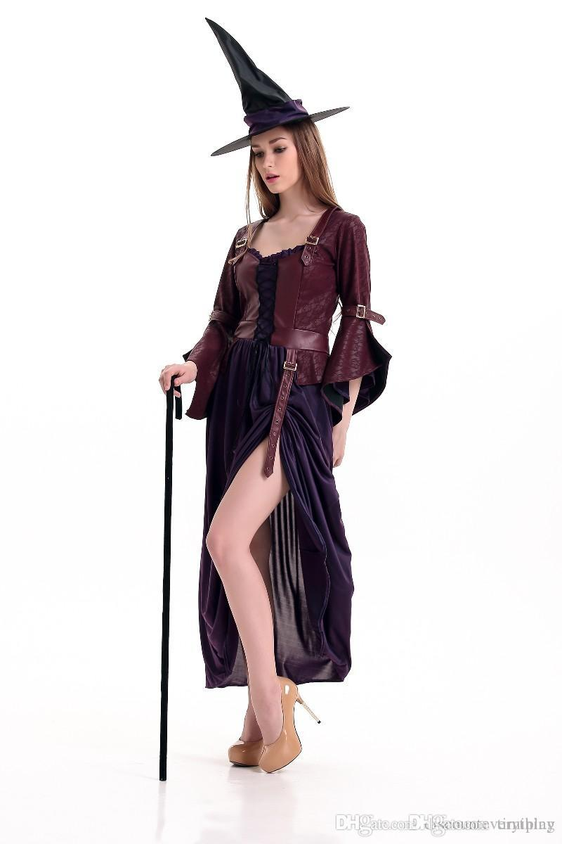 a0a13ab9797 2019 Sexy Witch Costume Deluxe Adult Womens Magic Moment Costume Adult  Witch Halloween Fancy Dress From Timiplay