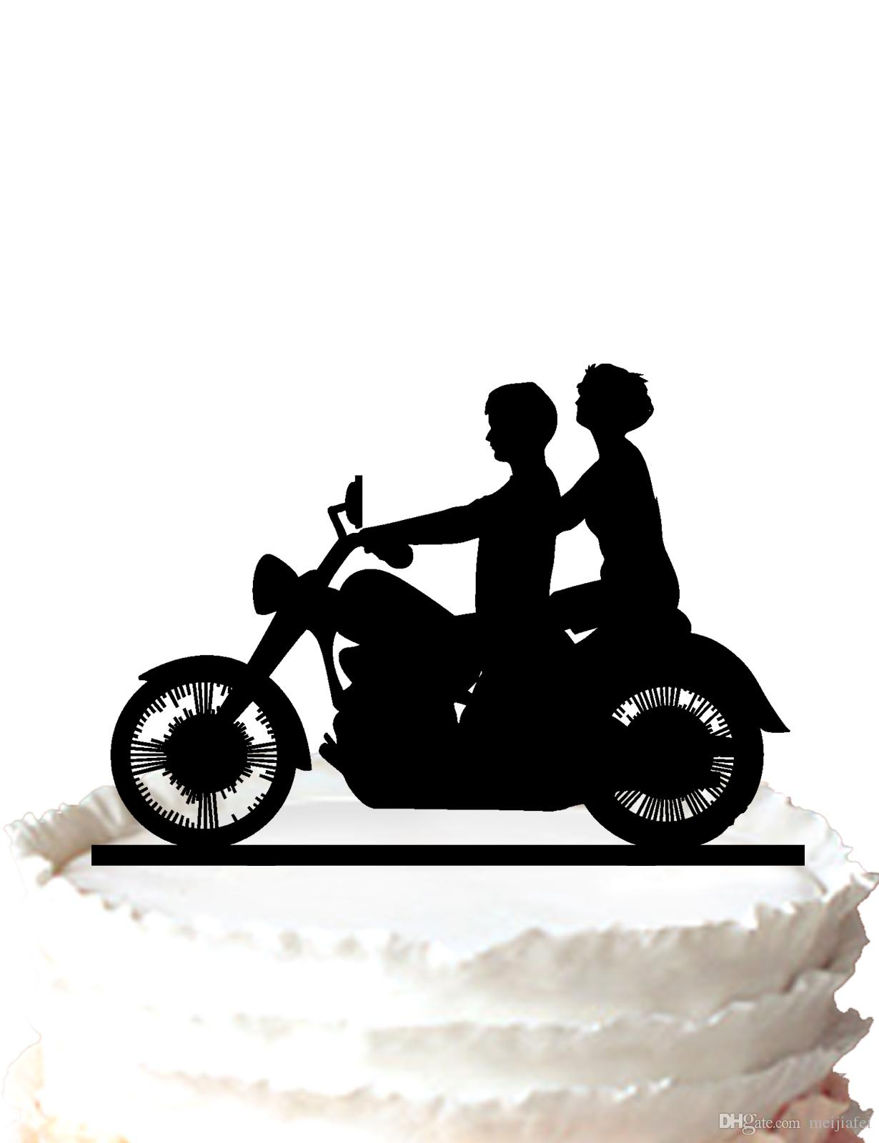 motorcycle couple wedding cake topper 2018 motorcycle biker wedding acrylic cake topper by 17606